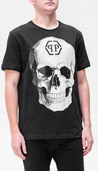 Черная футболка Philipp Plein с черепом, фото