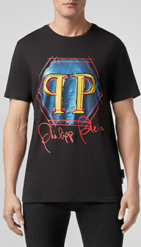 Мужская футболка Philipp Plein с ярким принтом, фото