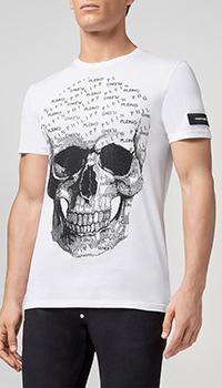 Белая футболка Philipp Plein с принтом, фото