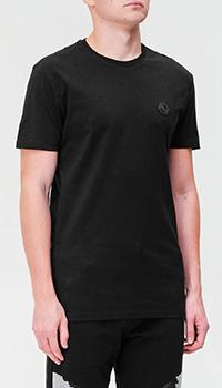 Черная футболка Philipp Plein с принтом на спине, фото