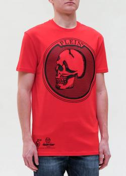 Красная футболка Philipp Plein с черепом, фото