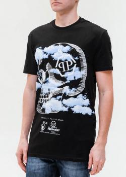 Черная футболка Philipp Plein с рисунком, фото
