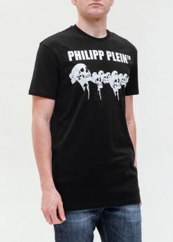 Черная футболка Philipp Plein с черепами, фото
