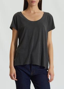 Серая футболка Zadig & Voltaire с U-образным вырезом, фото
