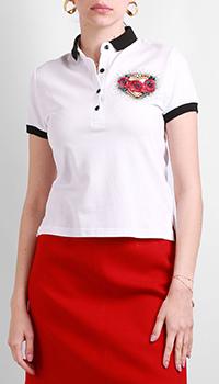 Поло Red Valentino белого цвета, фото