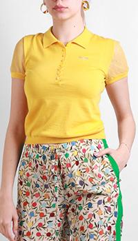 Желтая футболка Red Valentino из шелка и кашемира, фото