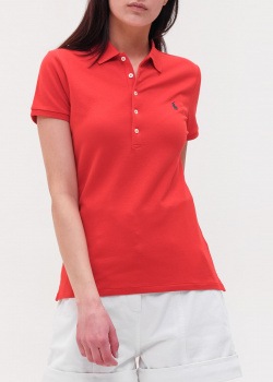 Красное поло Polo Ralph Lauren с логотипом, фото