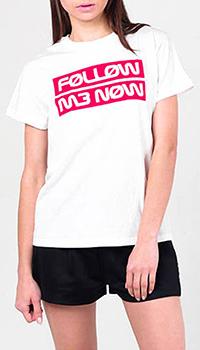 Белая футболка Red Valentino с принтом , фото