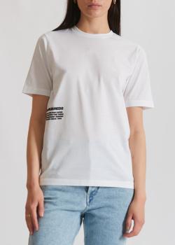Белая футболка Dsquared2 с фирменным принтом, фото