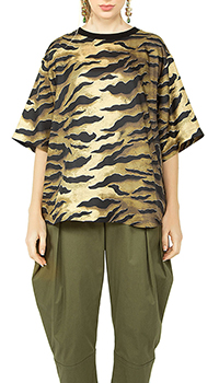 Шелковая футболка Dsquared2 с животным принтом, фото
