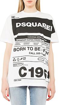 Женская футболка Dsquared2 белого цвета, фото