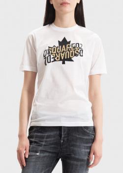 Белая футболка Dsquared2 с зеркальным лого, фото