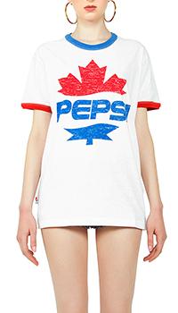 Белая футболка Dsquared2  с принтом, фото