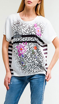 Белая футболка Sportalm с принтом, фото