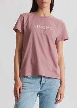 Розовая футболка Zadig & Voltaire с принтом на спине, фото