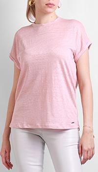 Льняная футболка Max&Moi розового цвета, фото