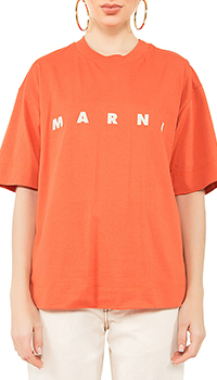 Футболка Marni оранжевого цвета, фото