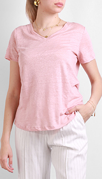 Женская футболка Max&Moi розового цвета, фото