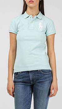 Поло Polo Ralph Lauren мятного цвета с крупным логотипом, фото