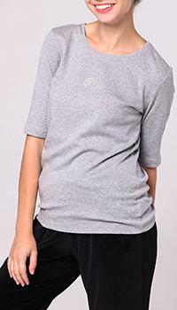 Серая футболка Bogner с рукавом три четверти, фото