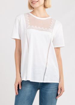 Белая футболка Ermanno Ermanno Scervino с кружевом, фото