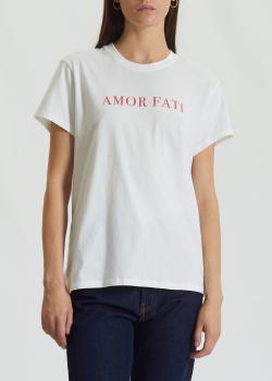Хлопковая футболка Zadig & Voltaire белого цвета, фото