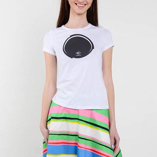 Белая футболка Cerruti с фирменным принтом, фото