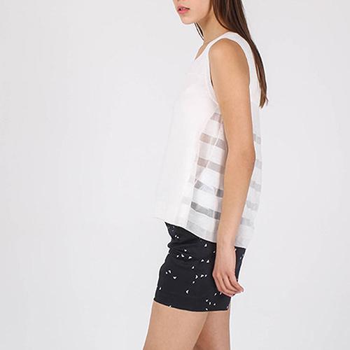 Топ Armani Jeans из мягкого трикотажа белого цвета, фото