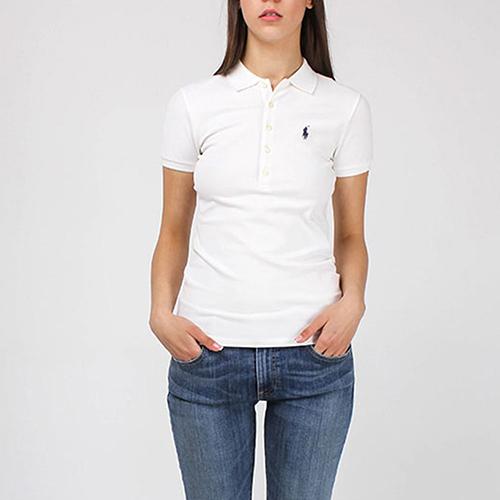 Поло Polo Ralph Lauren белого цвета на 5 пуговиц, фото
