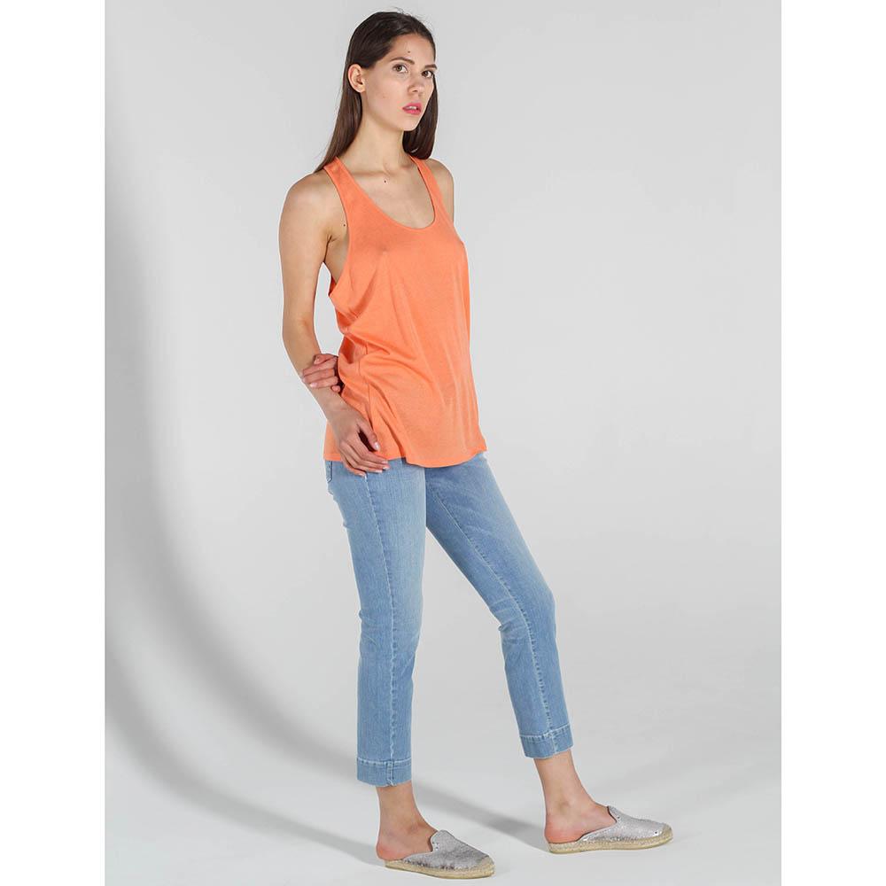 Майка Stella McCartney оранжевого цвета