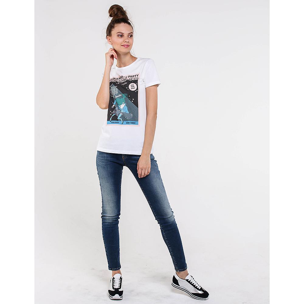 Белая футболка Love Moschino с принтом