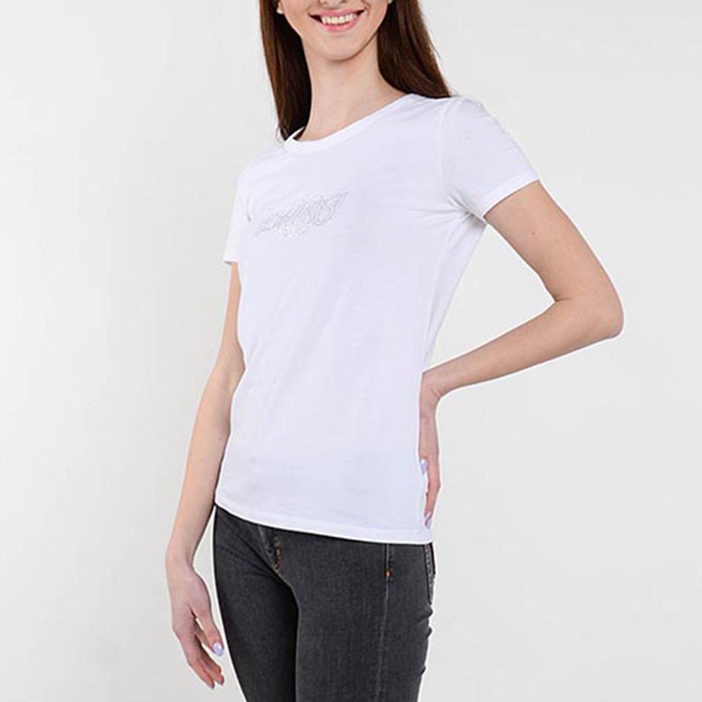 Белая футболка Cerruti со стразами