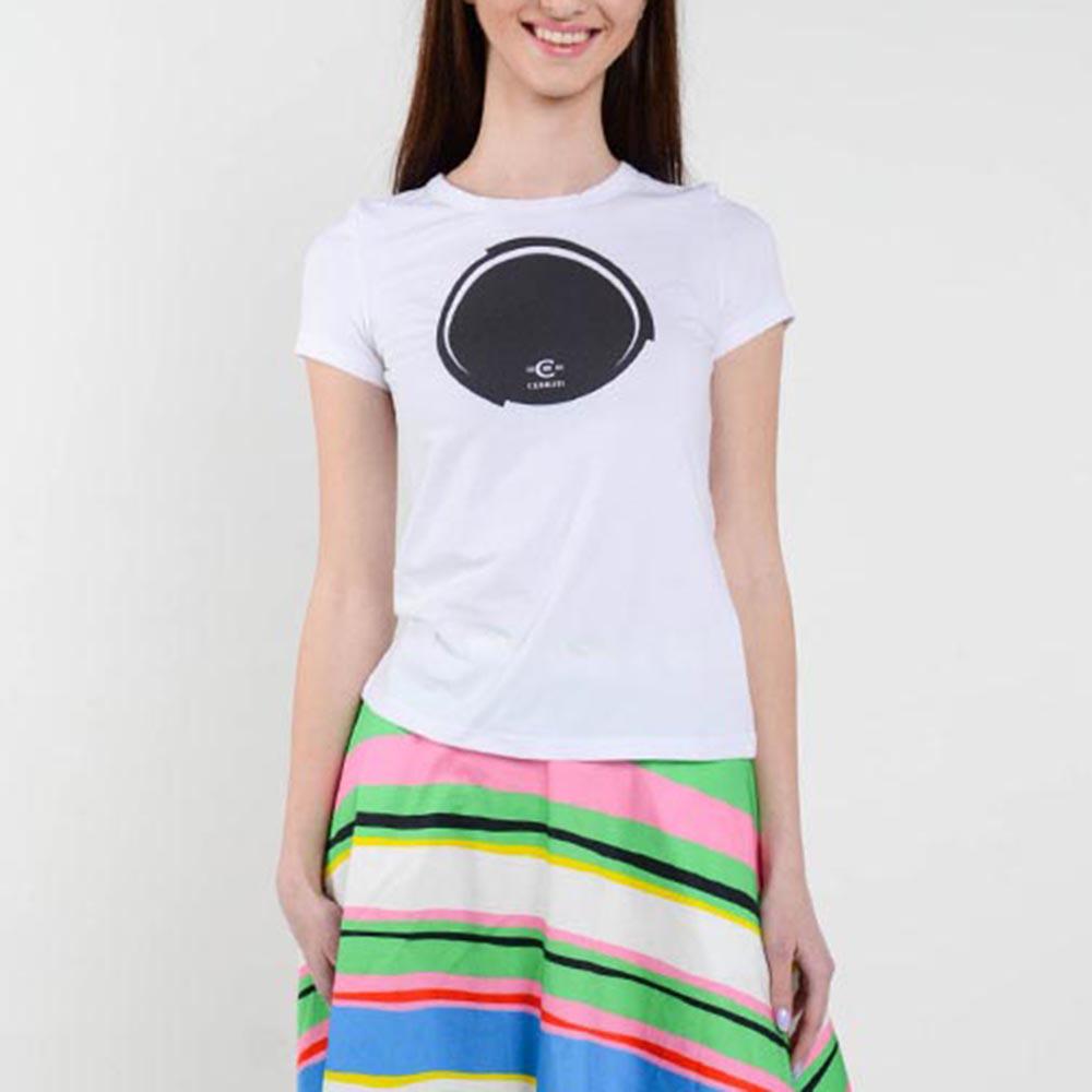Белая футболка Cerruti с фирменным принтом
