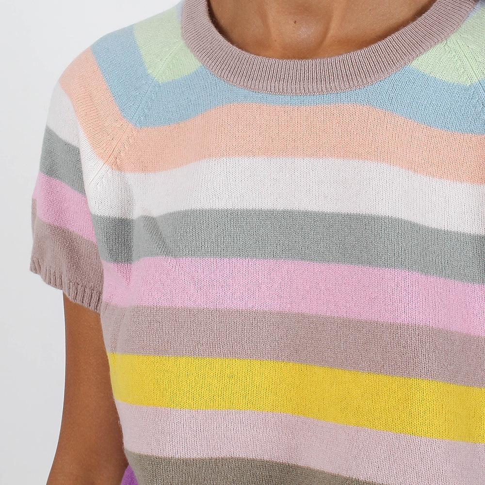 Кашемировый топ Allude в разноцветную полоску