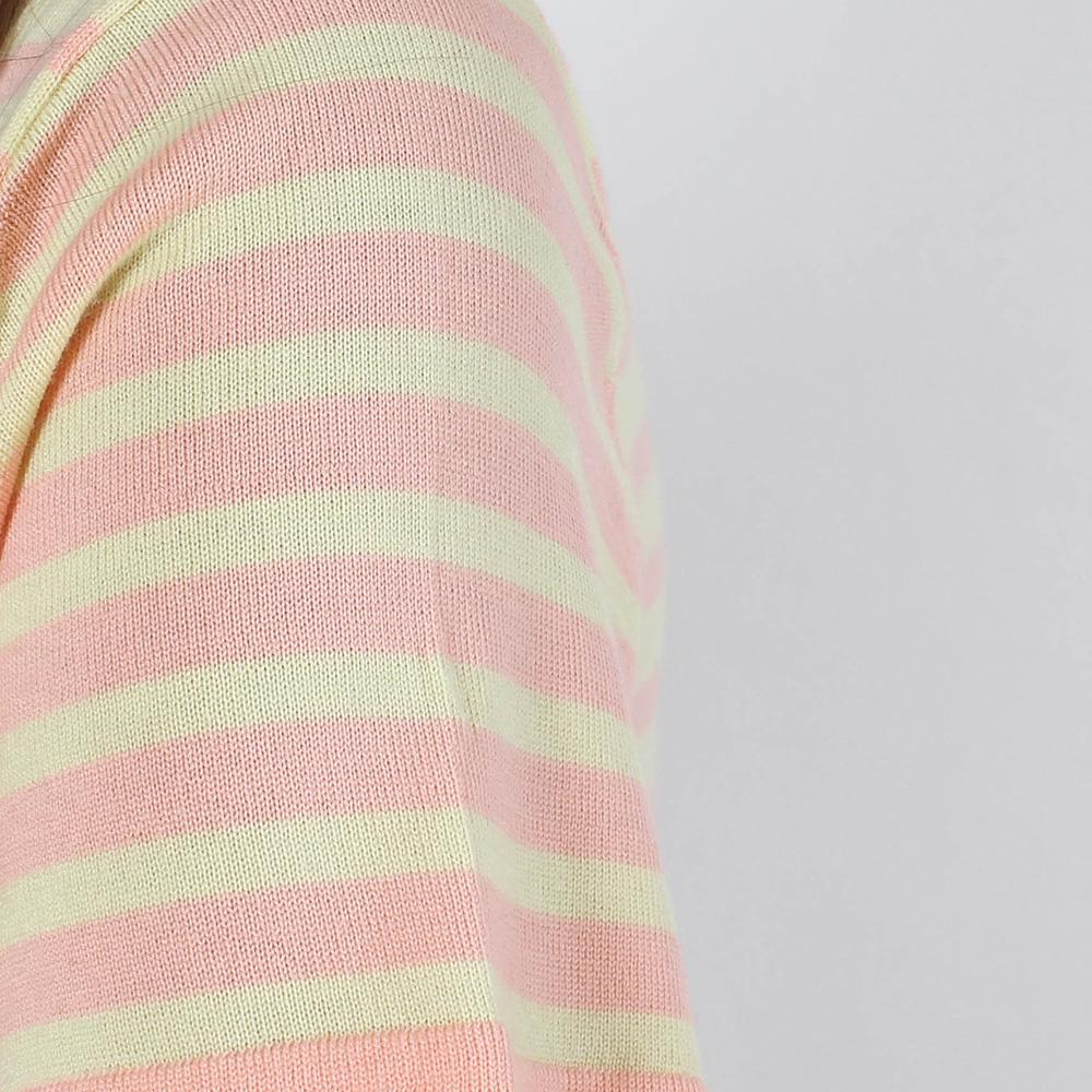 Шерстяной топ Allude желтый в розовую полоску