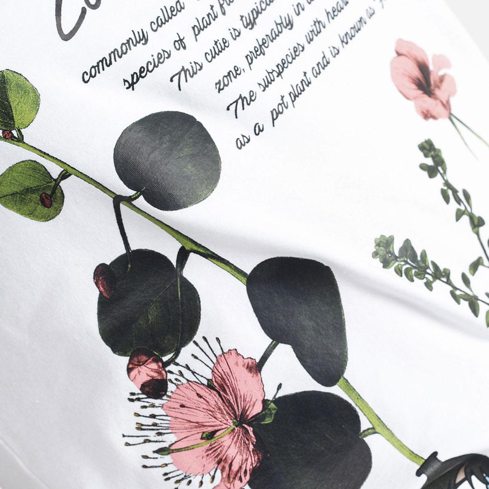 Белая футболка Love Moschino Herbarium