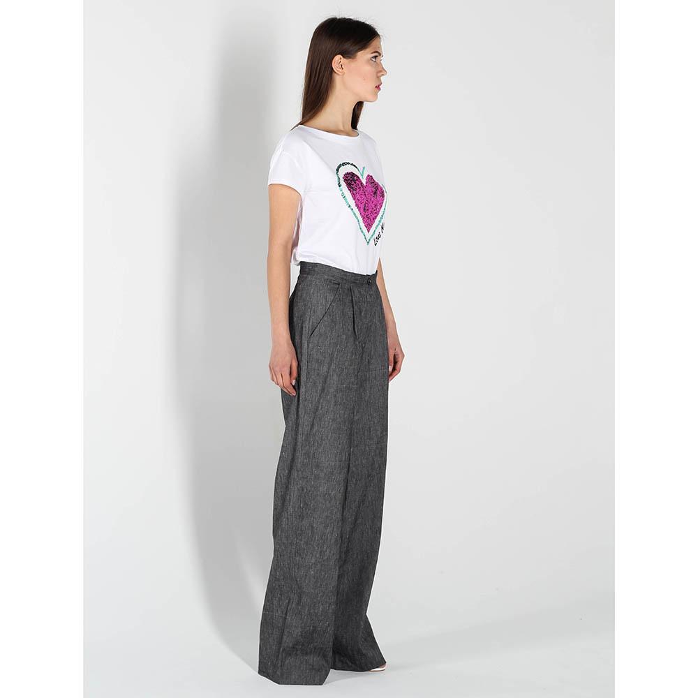 Белая футболка Love Moschino с пайетками