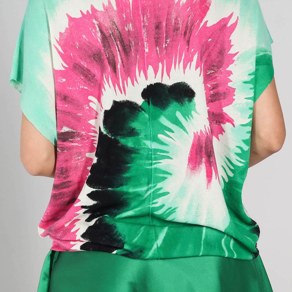 Мятная футболка P.A.R.O.S.H. с абстрактным принтом
