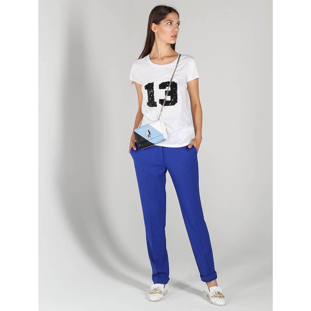 Белая футболка P.A.R.O.S.H. с вышивкой пайетками