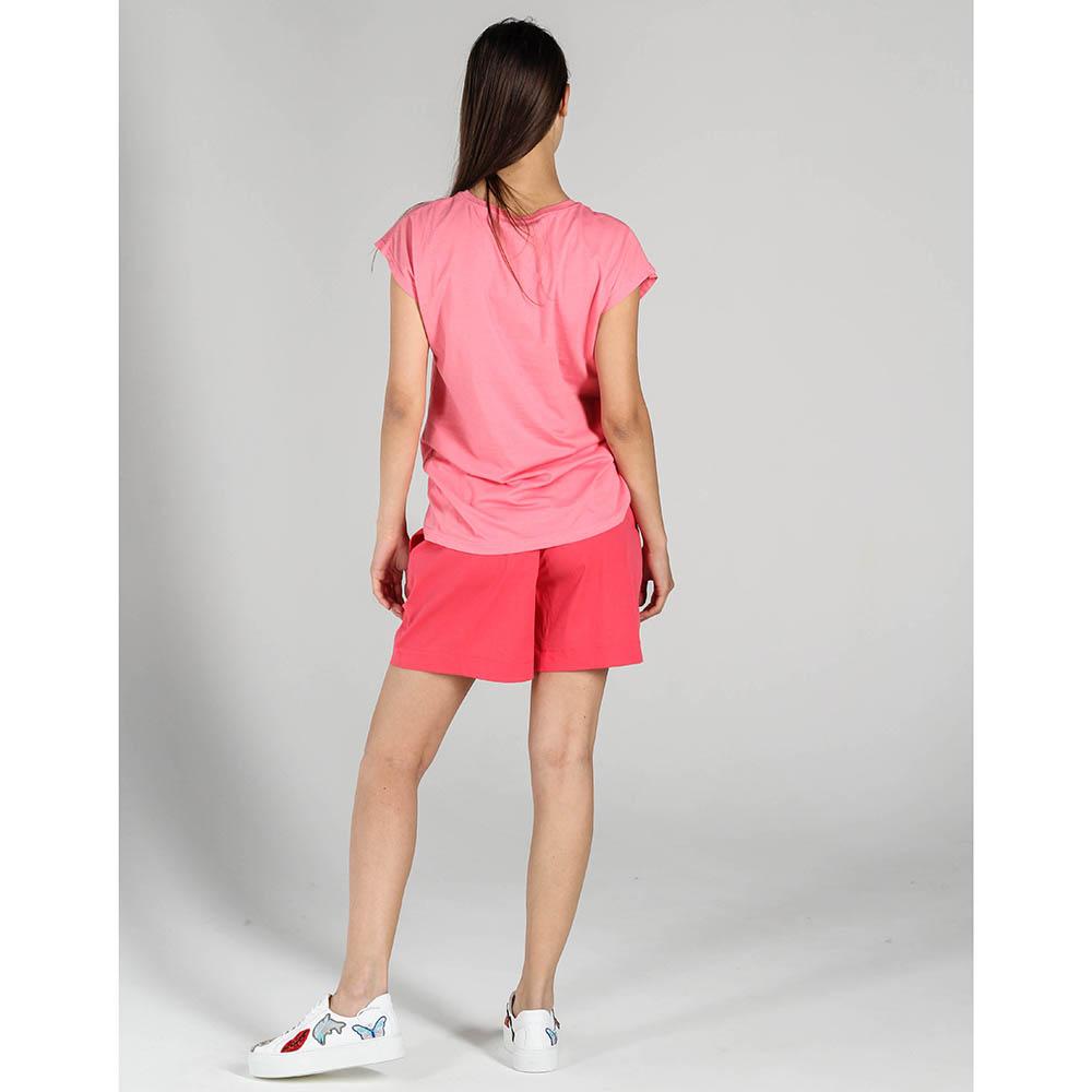 Розовая футболка P.A.R.O.S.H. с красной вышивкой