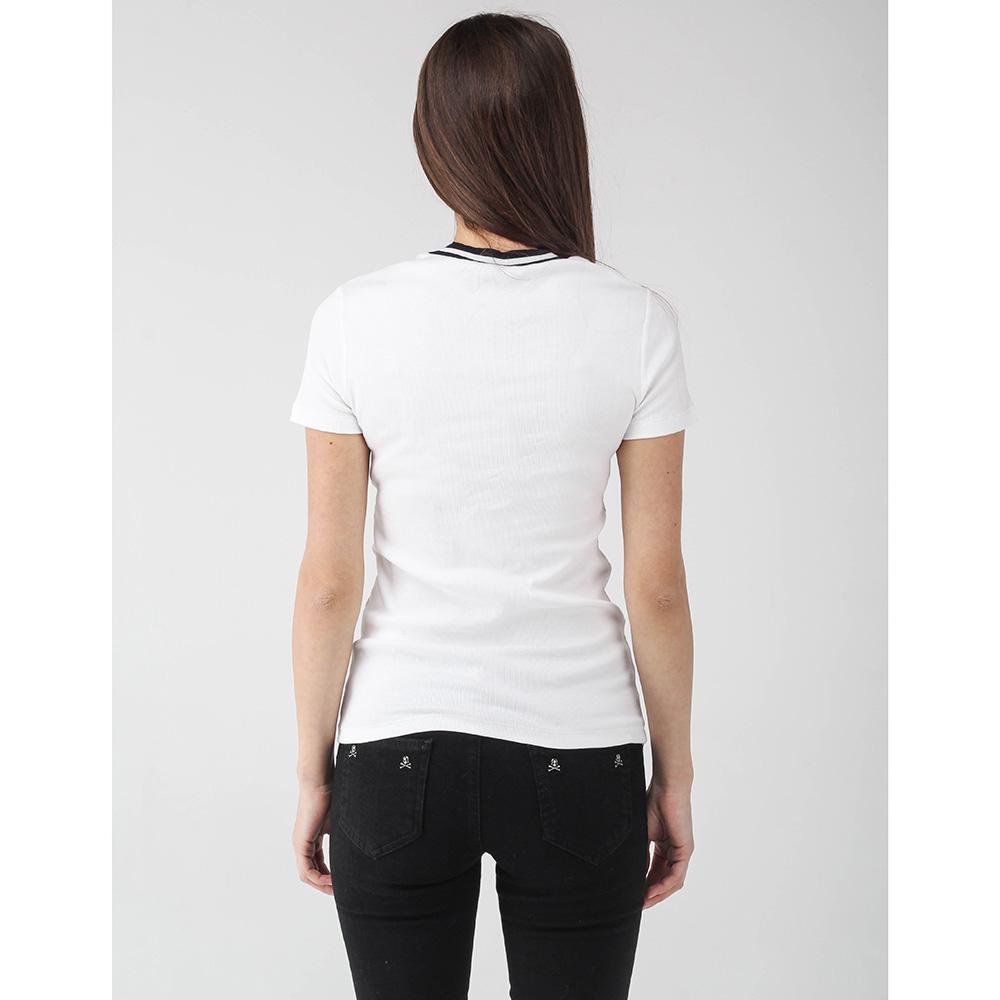 Белая футболка Peserico с черным кантом на горловине