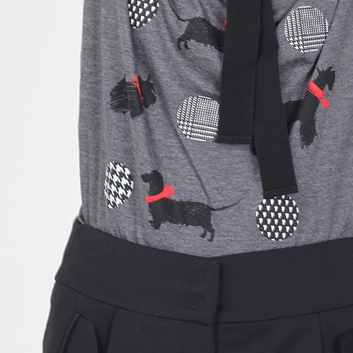 Серая футболка Emporio Armani с собачками