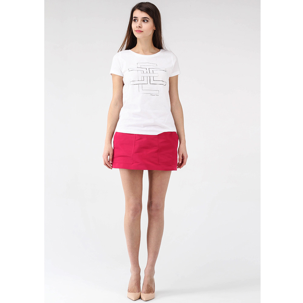 Белая футболка Elisabetta Franchi с графическим принтом
