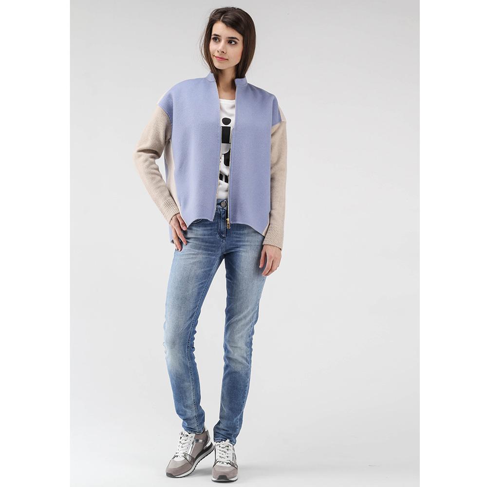 Белая футболка Elisabetta Franchi с брендовым принтом