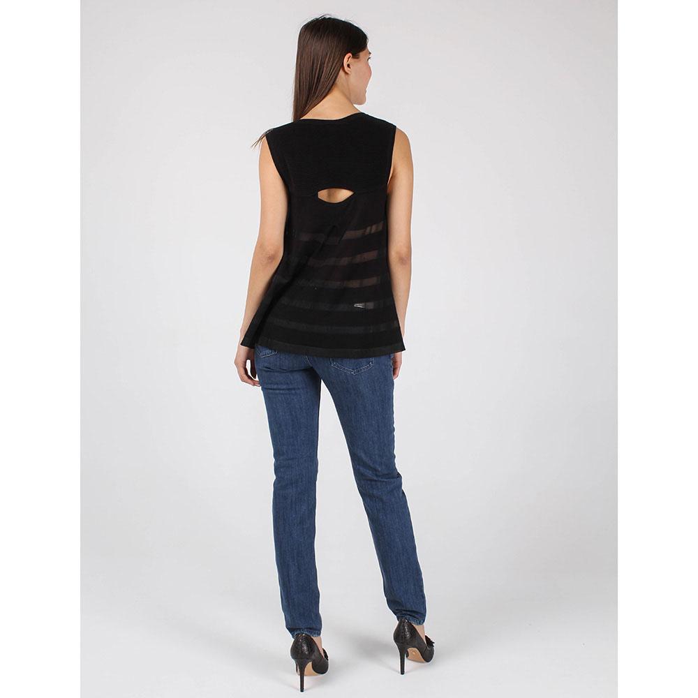 Топ Armani Jeans из мягкого трикотажа черного цвета
