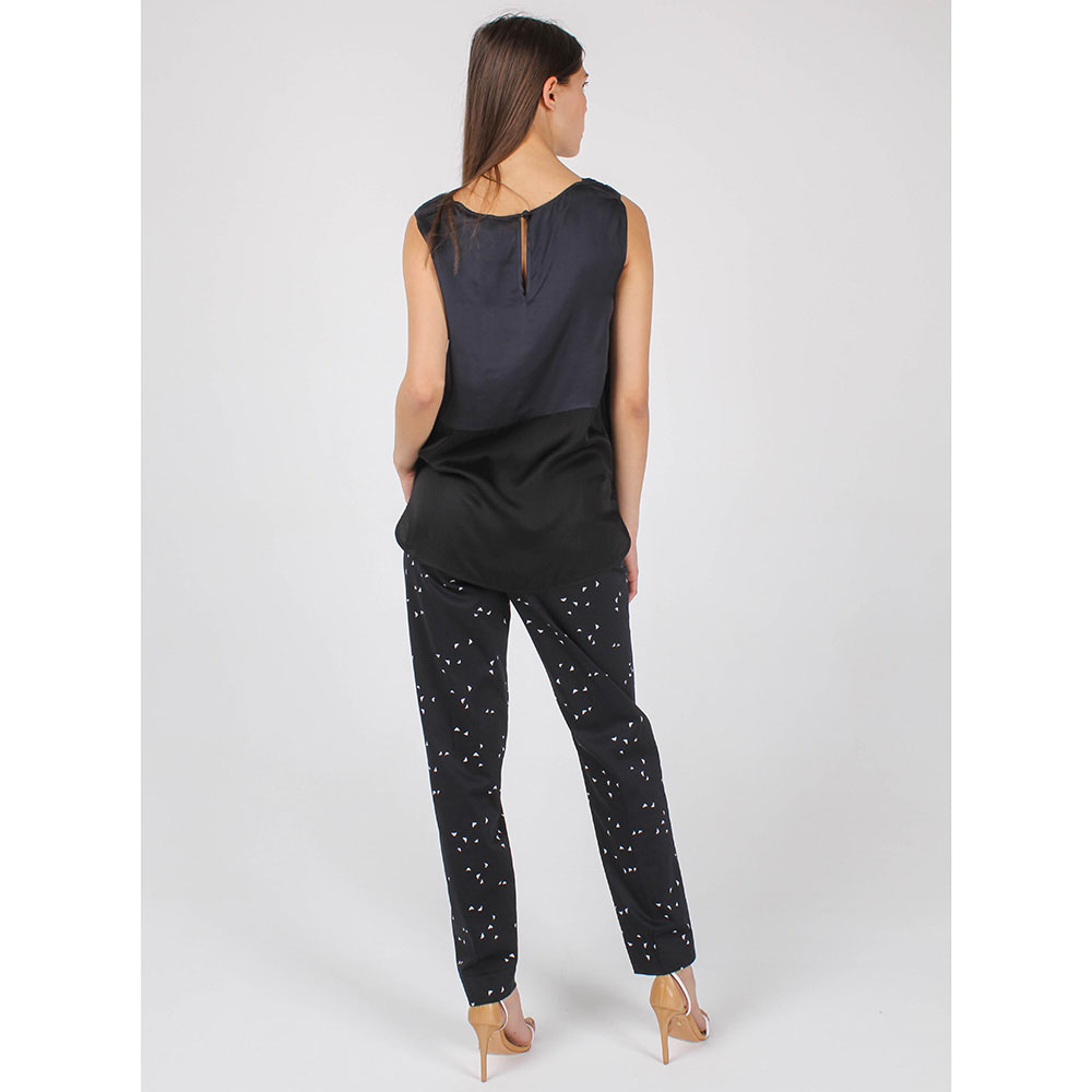 Топ Armani Jeans синего цвета с черной вставкой