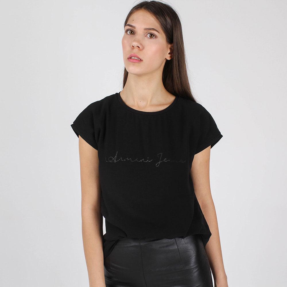 Футболка Armani Jeans черного цвета с брендовой надписью