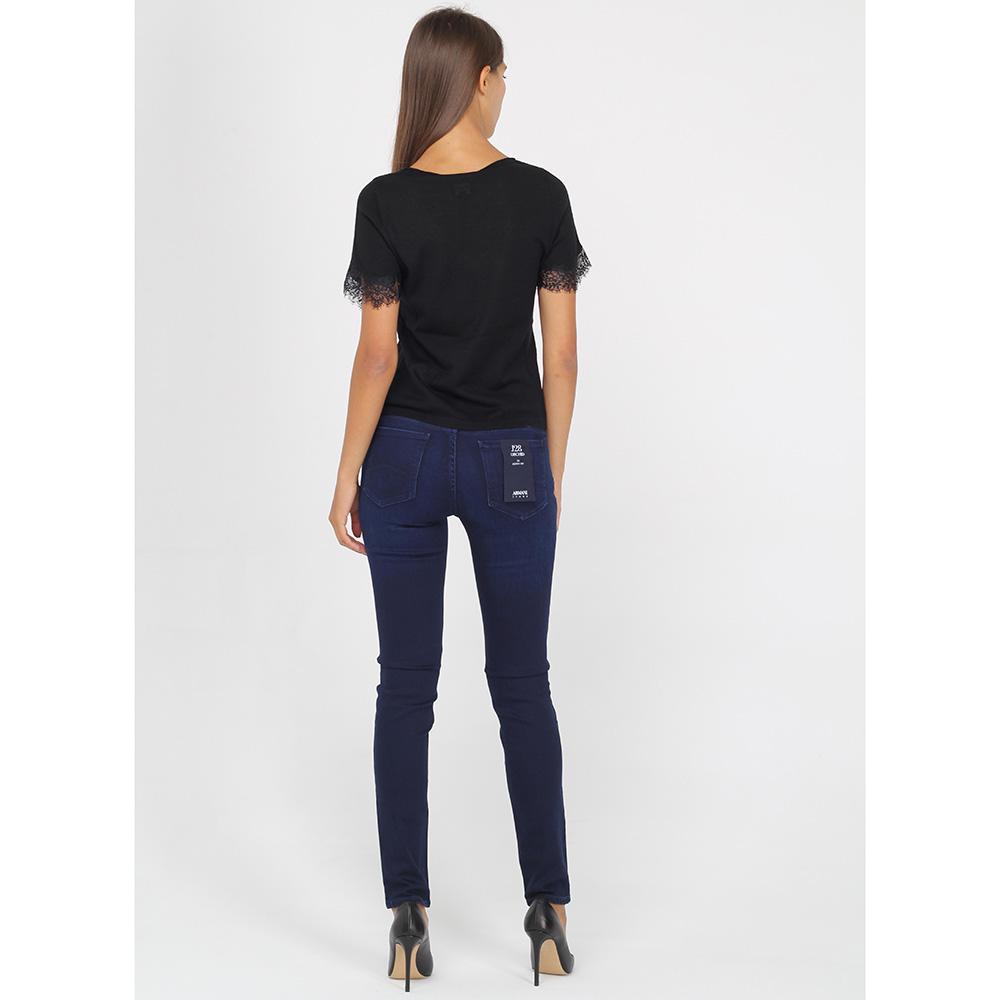 Футболка Armani Jeans с v-образным вырезом и кружевом