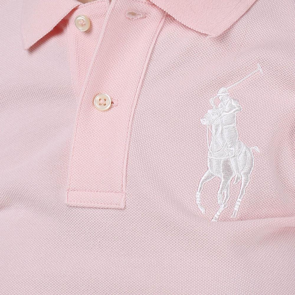 Поло Polo Ralph Lauren розового цвета с вышитым логотипом