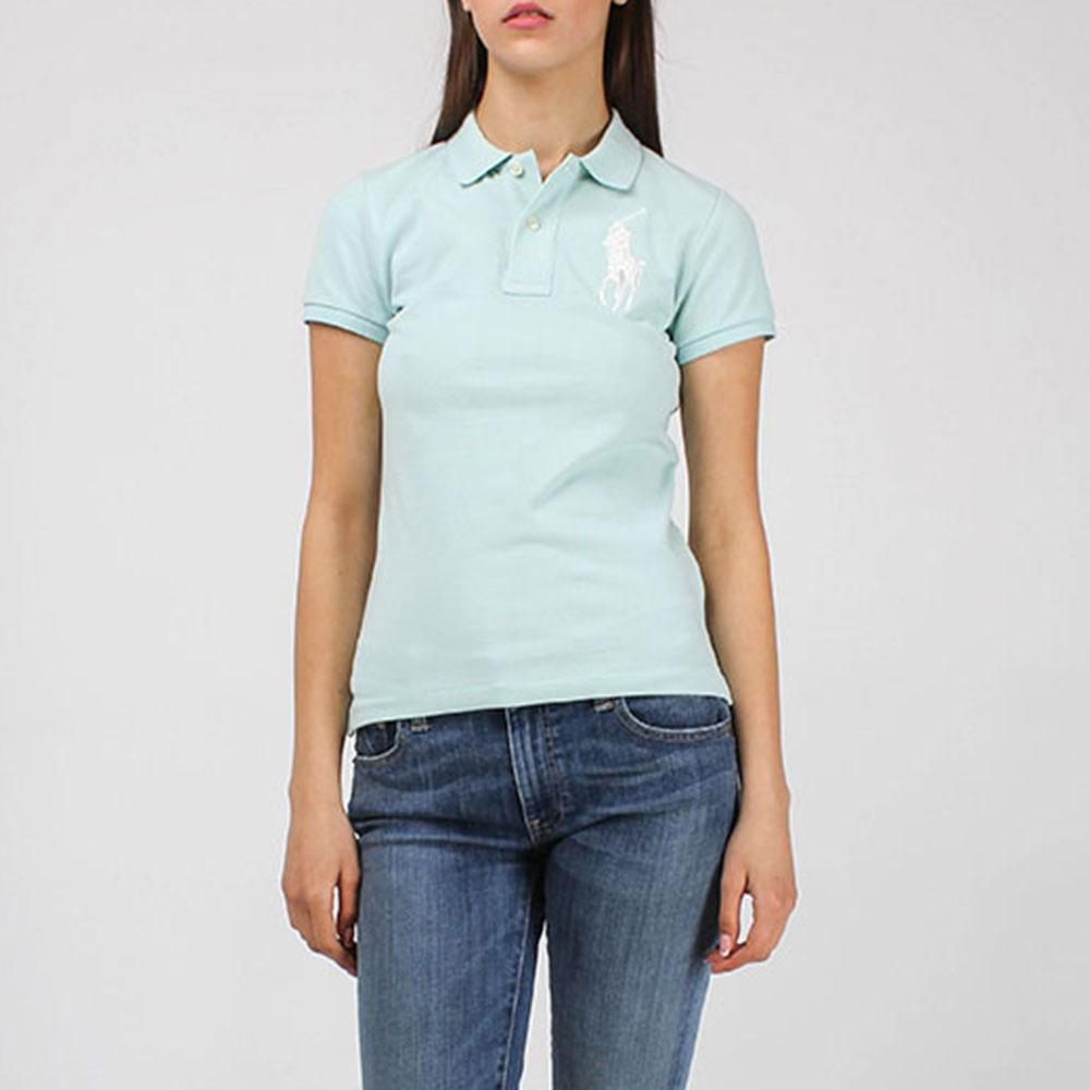 Поло Polo Ralph Lauren мятного цвета с крупным логотипом